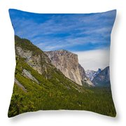 North Side Of South Valley Of Half Dome Throw Pillow