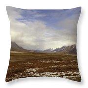 North Slope Dalton Highway Arctic Alaska Throw Pillow