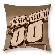 North South 1 Throw Pillow