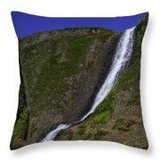 North Table Mountain Spring Falls Throw Pillow