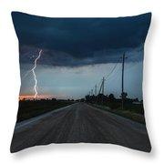 North Talbot Road Lightning Throw Pillow