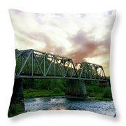 North Umpqua Crossing Throw Pillow