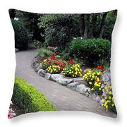 North Vancouver Garden Throw Pillow by Will Borden