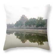 North Wall Of The Forbidden City Beijing China Throw Pillow