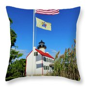 North Wind At East Point Light Throw Pillow