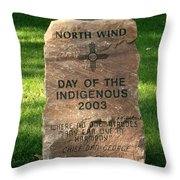 North Wind Throw Pillow