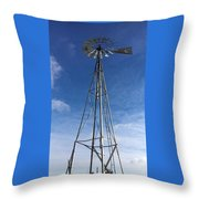 North Windmill Throw Pillow