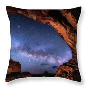 North Window Milky Way Throw Pillow
