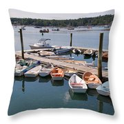 Northeast Harbor Maine Throw Pillow
