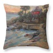 Northeast Sunset Throw Pillow