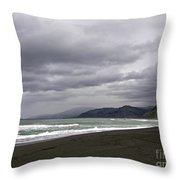 Northern California Beach Throw Pillow