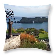 Northern California Coast View Throw Pillow