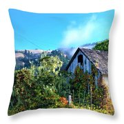 Northern California Cottage Throw Pillow
