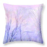 Northern California Pastel Sunset Throw Pillow