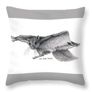Northern Flying Squirrel Throw Pillow