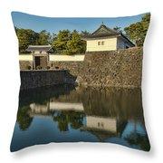 Northern Gate Of Edo Castle Throw Pillow