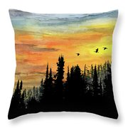 Northern Gold Throw Pillow