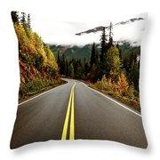 Northern Highway Yukon Throw Pillow