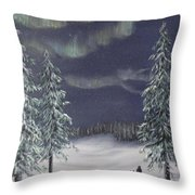 Northern Lights 2  Throw Pillow