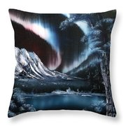 Northern Lights Aurora Borealis Throw Pillow by Cynthia Adams