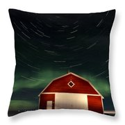 Northern Lights Canada Barn Throw Pillow