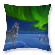 Northern Lights Night Throw Pillow