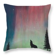Northern Lights Stardust Throw Pillow by Jackie Novak