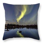 Northern Lights Thingvellir Throw Pillow