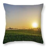 Northern Maryland Farm Sunrise Throw Pillow