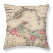 Northern Michigan And Lake Superior Throw Pillow