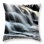 Northern Michigan Up Waterfalls Bond Falls Throw Pillow