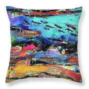 Northern Migration Throw Pillow