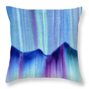 Northern Mountain Lights Throw Pillow