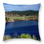 Northern New Mexico Lake Throw Pillow