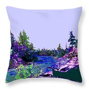 Northern Ontario River Throw Pillow