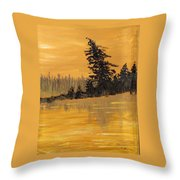 Northern Ontario Three Throw Pillow