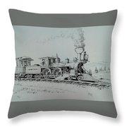 Northern Pacific Centennial Gold Creek Montana Throw Pillow