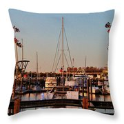 Northern Riverfront Throw Pillow