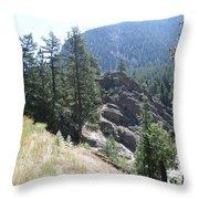 Northern Rockies Missoula  Montana  Throw Pillow