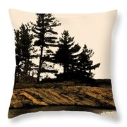 Northern Silhouette Throw Pillow