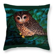 Northern Spotted Owl Throw Pillow