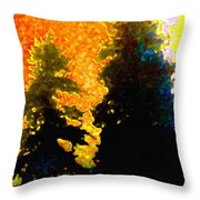Northern Sunrise Throw Pillow