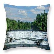Northern Waterfall Throw Pillow