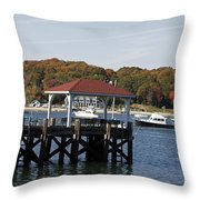 Northport Harbor Throw Pillow