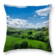 Northumberland Landscape Throw Pillow