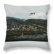 Northumberland On The Susquehanna River Throw Pillow