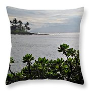 Northwest Maui Bay Throw Pillow
