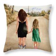 Northwest Oklahoma Sisters Throw Pillow