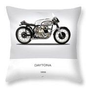 Norton Daytona Throw Pillow