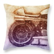Norton Manx 2 - Norton Motorcycles - 1947 - Vintage Motorcycle Poster - Automotive Art Throw Pillow